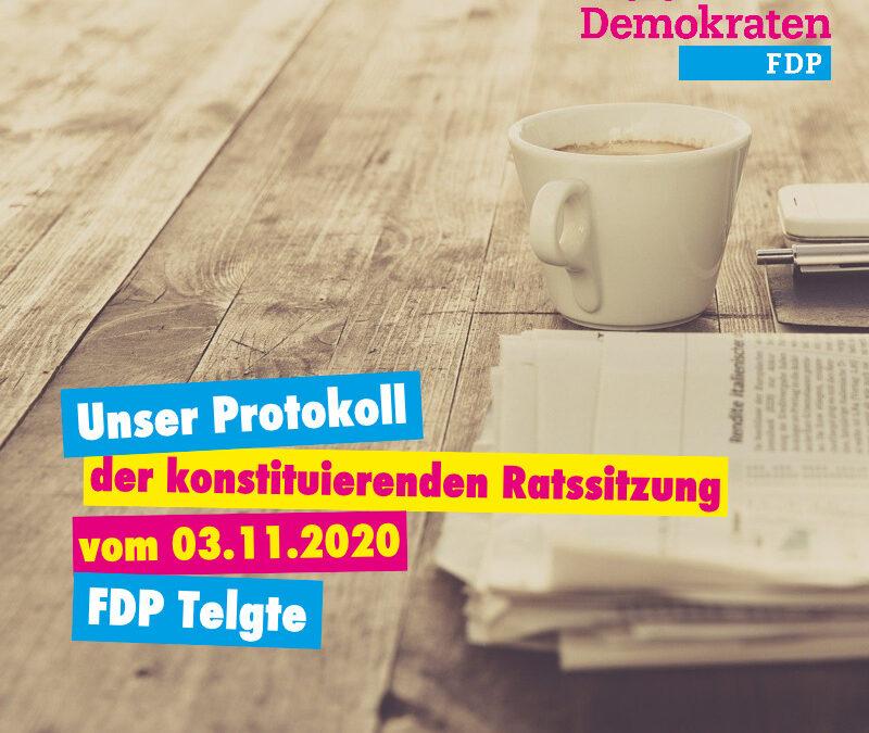 Unser Protokoll der konstituierenden Ratssitzung vom 03.11.2020