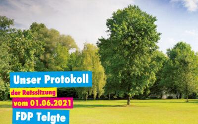 Unser Protokoll der Ratssitzung vom 01.06.2021