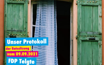 Unser Protokoll der Ratssitzung vom 09.09.2021